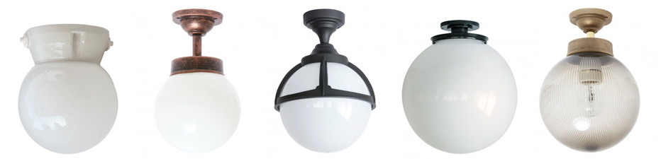 Globe Lights And Acrylic Glass Ceiling, Globe Outdoor Light Ceiling