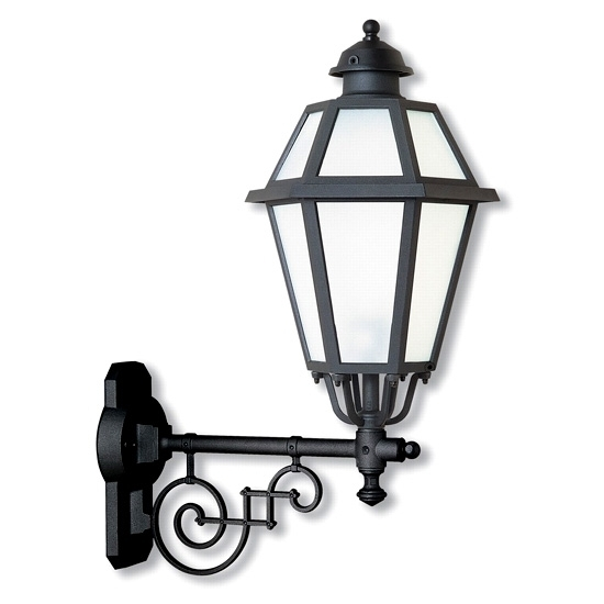 Historic Wall Light with Glass Lantern Terra Lumi
