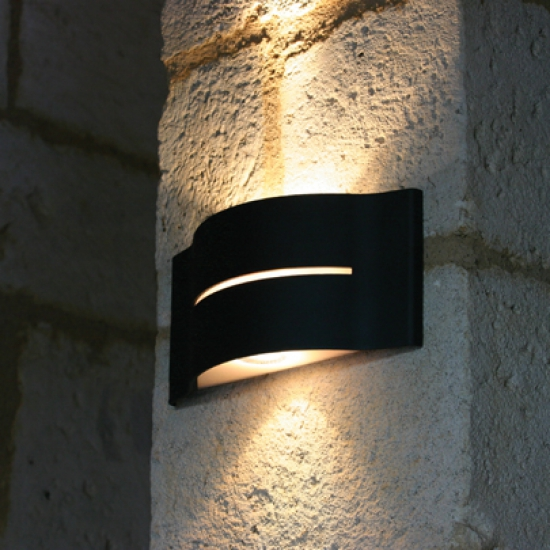 Up and down outdoor wall light surf terra lumi - Luminaire mural exterieur ...