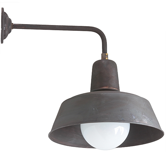 Industrial Style Outdoor Wall Lights : Industrial Style Wall Light Berlin W130 Copper Patina - Terra Lumi