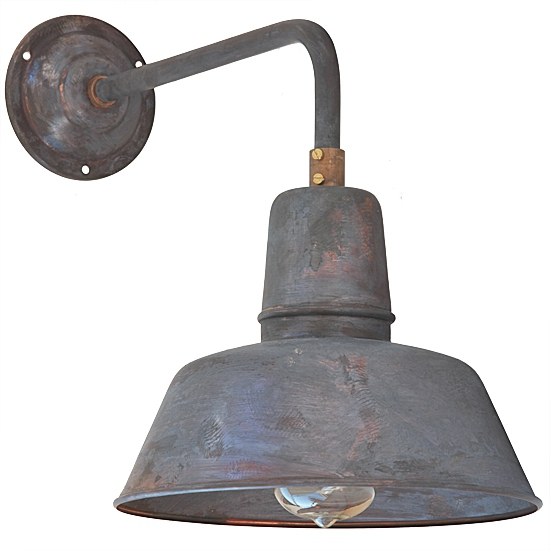industrial style wall light berlin w130 copper patina. Black Bedroom Furniture Sets. Home Design Ideas
