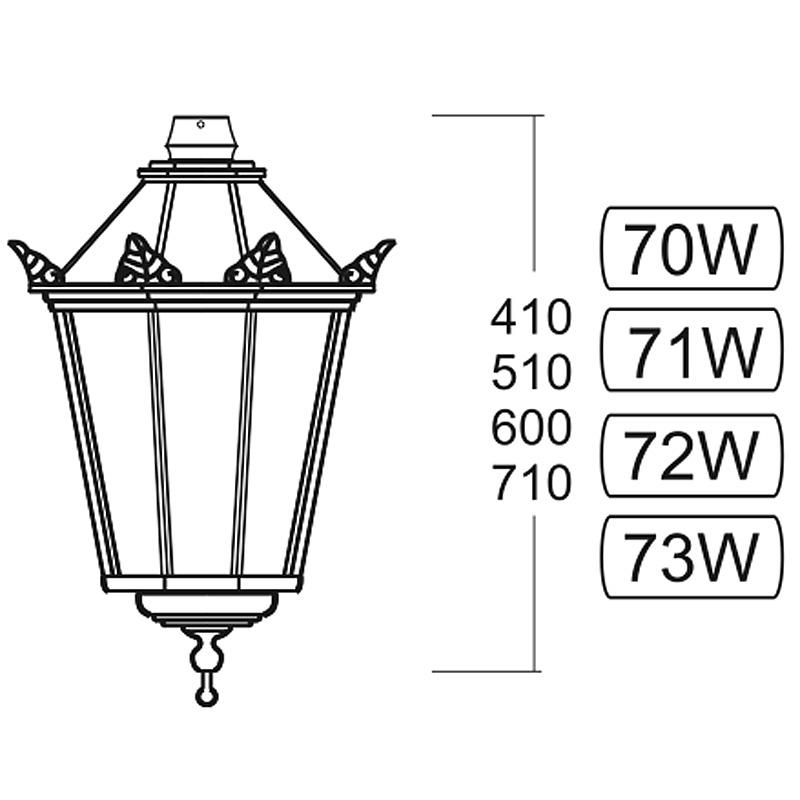 wall light danzig 70
