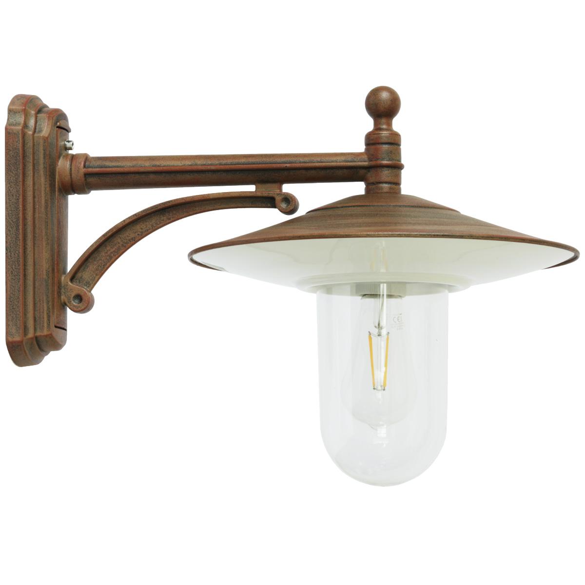 Aussenleuchte Wandlampe klassische Wandleuchte Aussenwandlampe Aussenlampe Glas