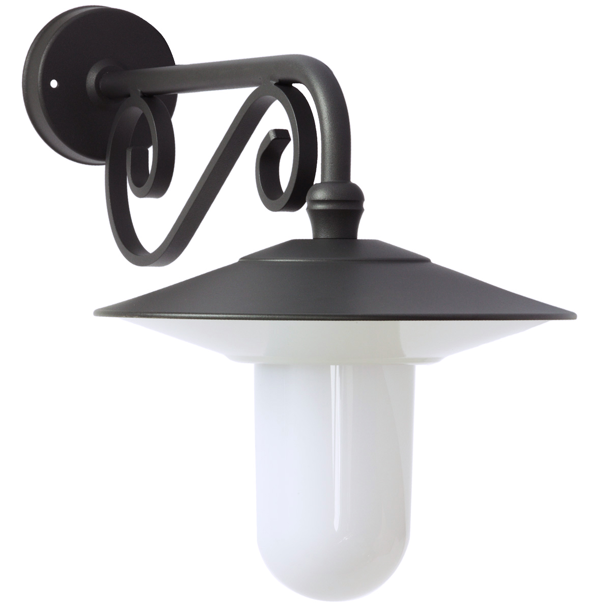 Au en wandlampe mit zierteil am wandarm terra lumi - Aussen wandlampe ...
