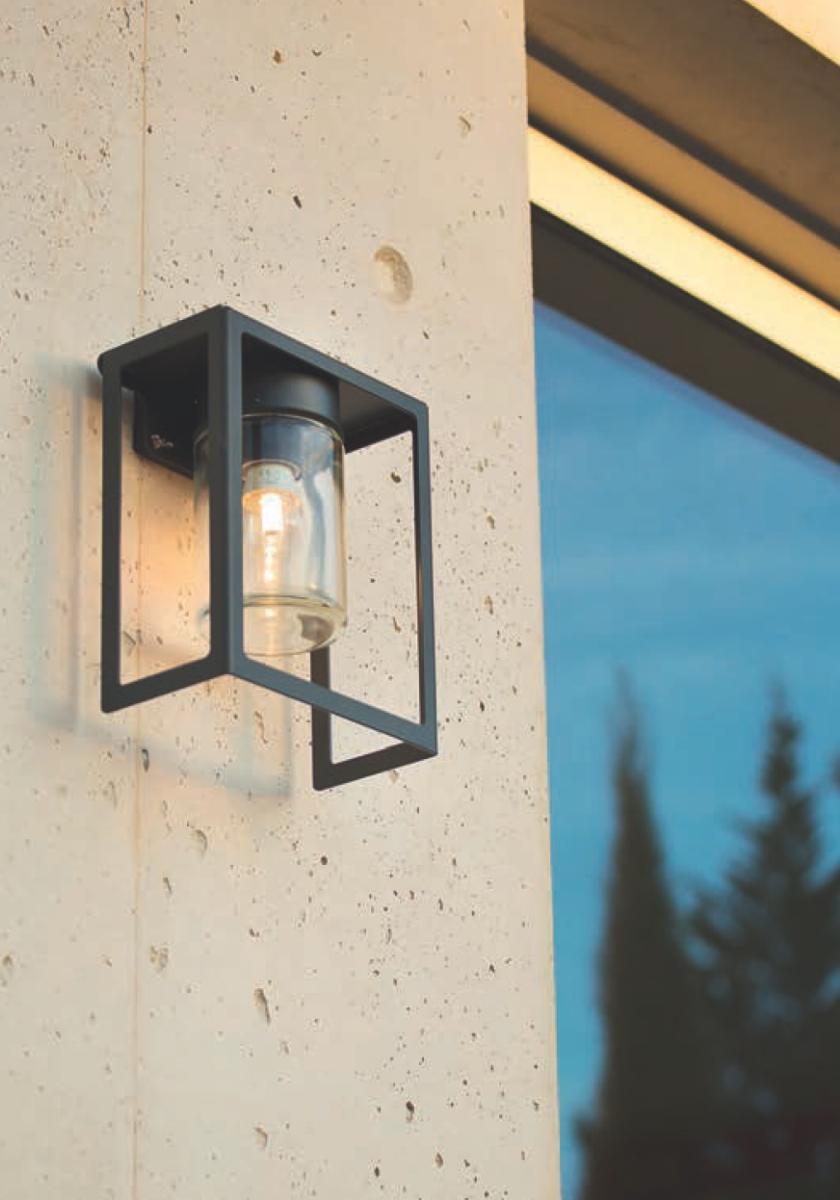 flache design au enlampe hugy mit ip 65 terra lumi. Black Bedroom Furniture Sets. Home Design Ideas