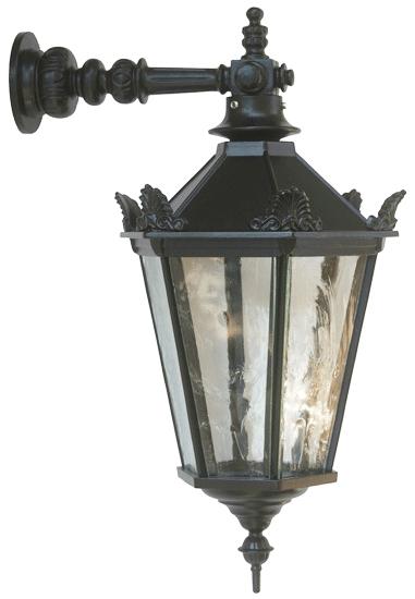 Garten & Terrasse Massive Sechseckige Schwarze Außenlampe Metall Laterne Neu E27 Auch Led