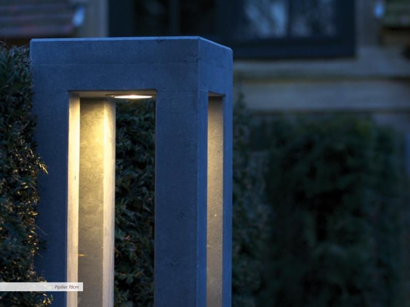 gartenleuchte pipilier aus belgischem blaustein terra lumi. Black Bedroom Furniture Sets. Home Design Ideas