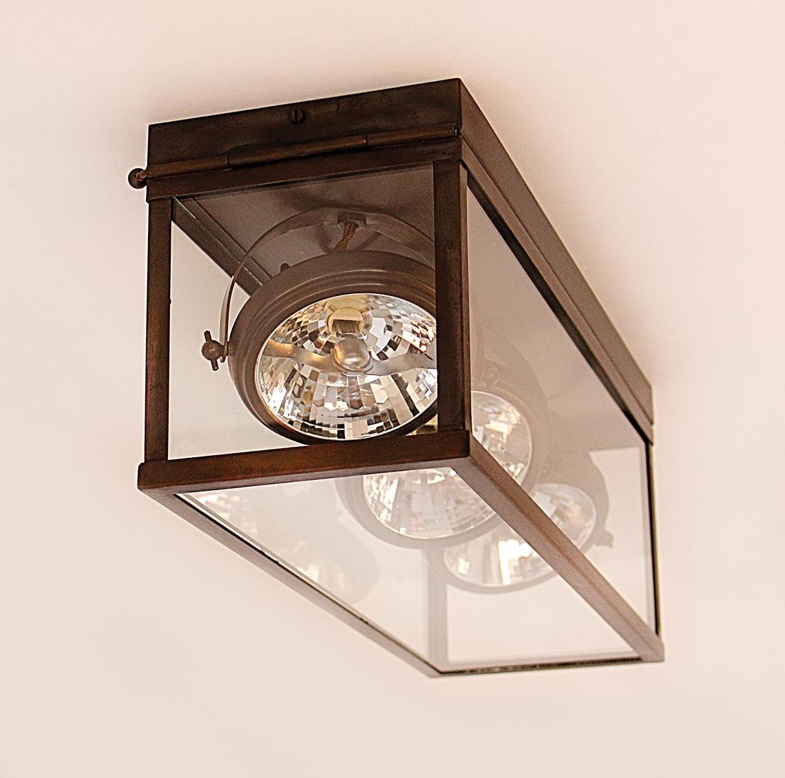Rectangular ceiling spot light vitrine 2l 3l terra lumi for Deckenlampe 2 strahler
