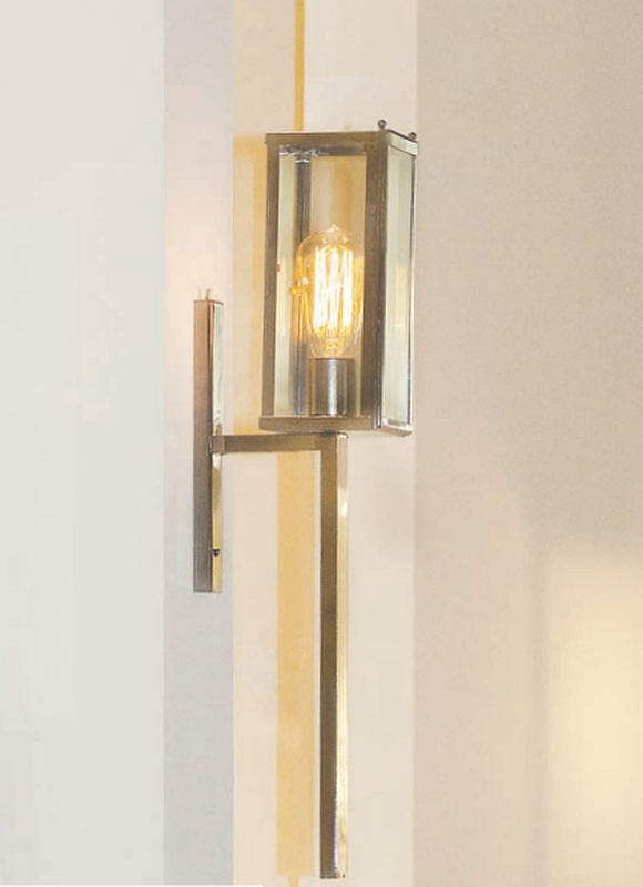 Original art d co outdoor torch sconce vitrine terra lumi for Art deco exterior light fixtures
