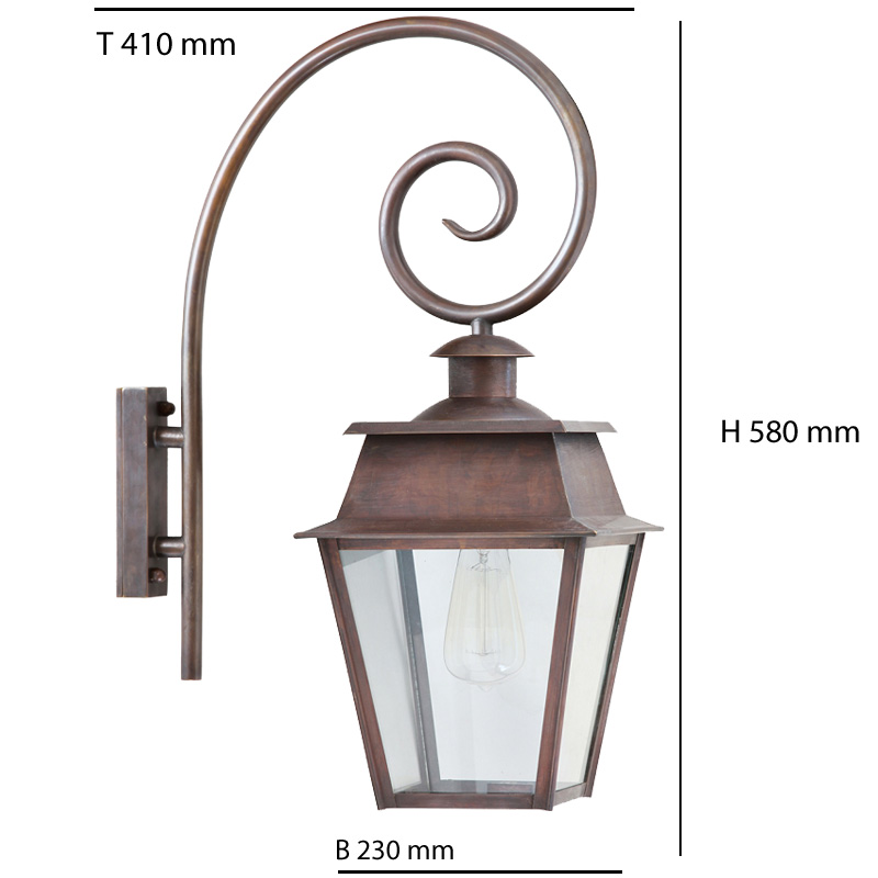 french historical wall lantern bordeaux mm with crozier. Black Bedroom Furniture Sets. Home Design Ideas