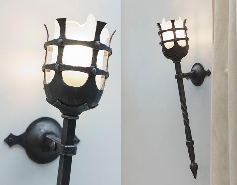 Robers Leuchten historical wall torch by robers wl 3478 a terra lumi