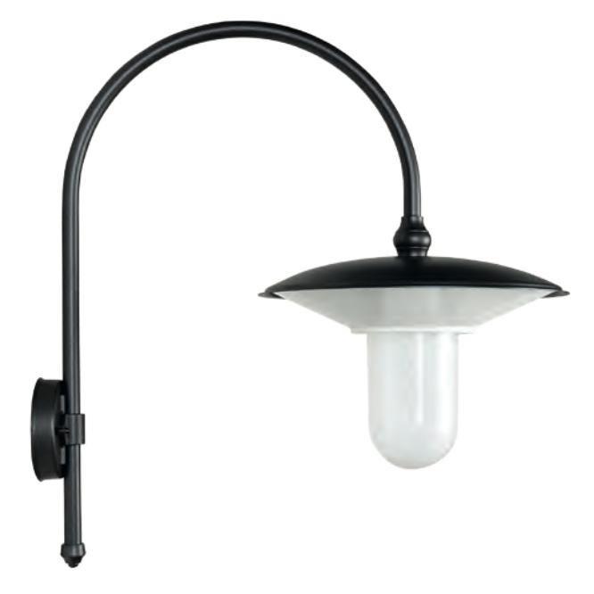 gro e italienische wandlampe f r au en mit bogenarm. Black Bedroom Furniture Sets. Home Design Ideas