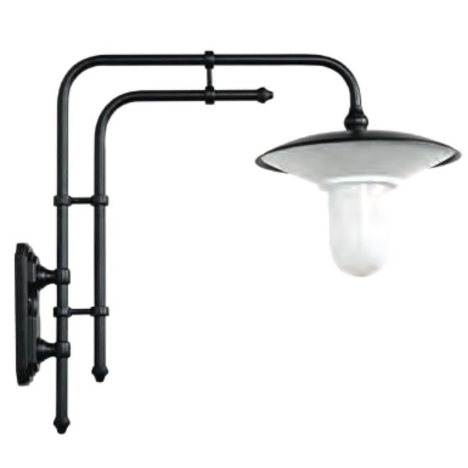 gro e wandlampe f r au en mit doppelrohr wandarm terra lumi. Black Bedroom Furniture Sets. Home Design Ideas