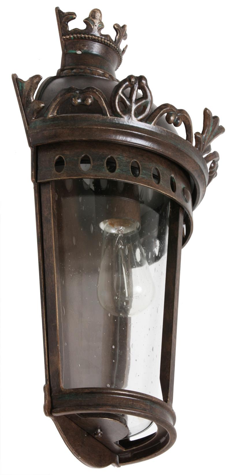 Flat Empire Style Wrought Iron Wall Lantern Wl 3550 Terra Lumi