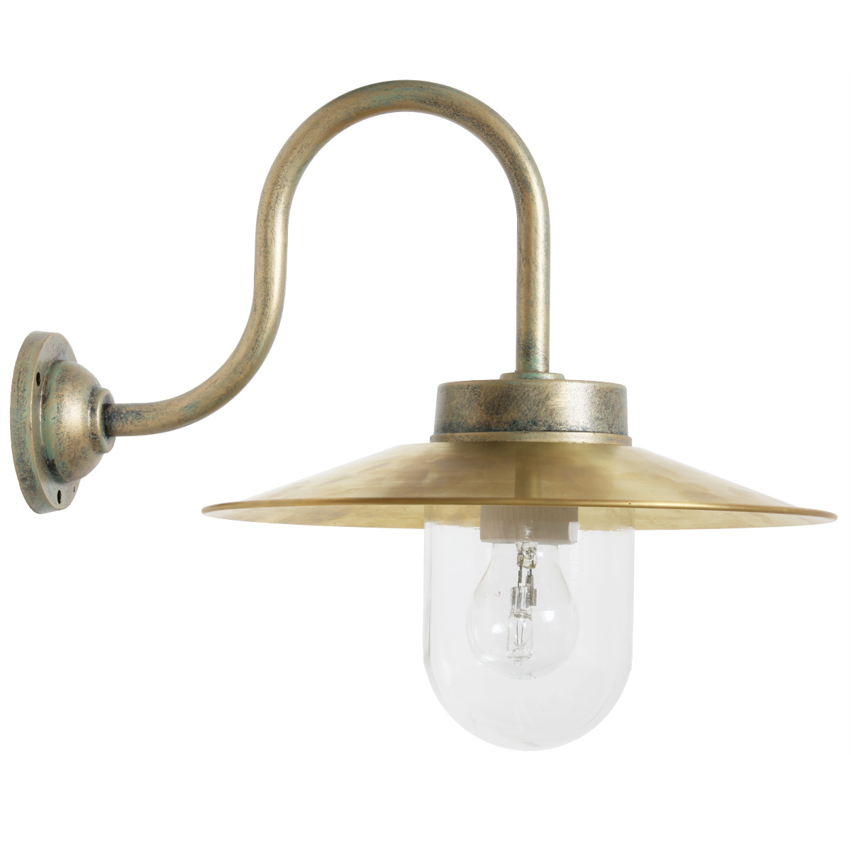 Classical Barn Lamp 38 S Br S With Brass Shade Terra Lumi