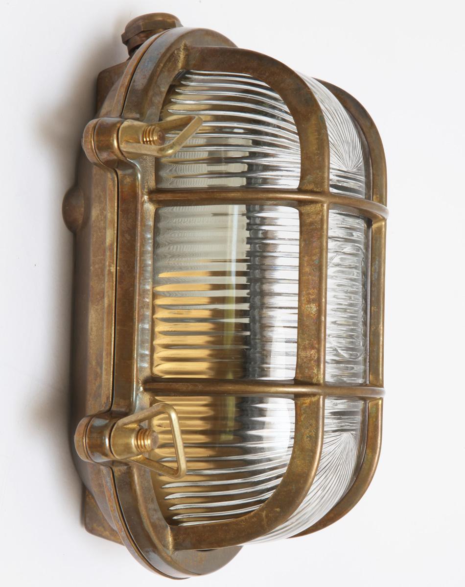 Holophanglas-Außenlampe aus Messing Roben - Terra Lumi