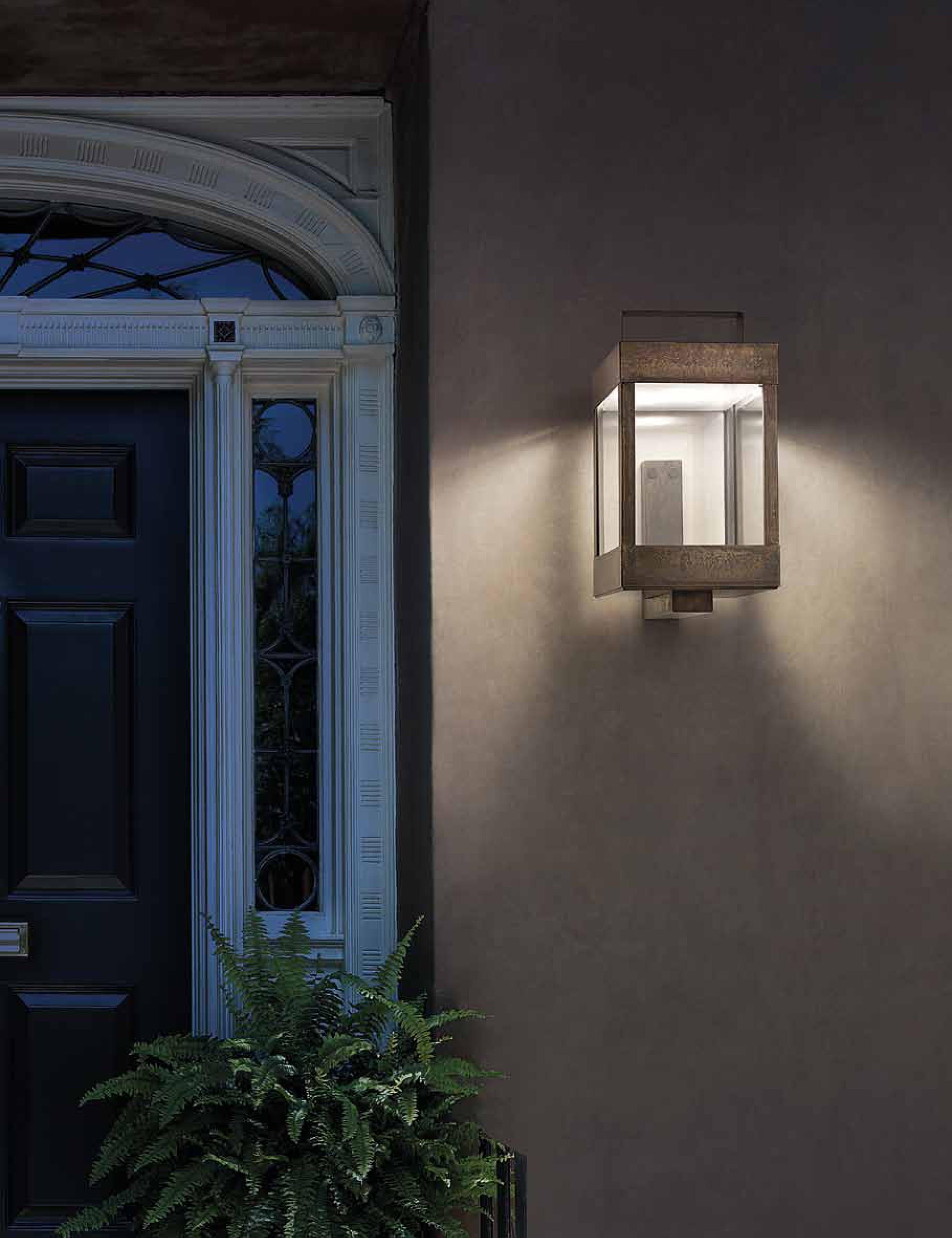 Kubische wandleuchte f r au en lanterne terra lumi - Lanterne moderne ...