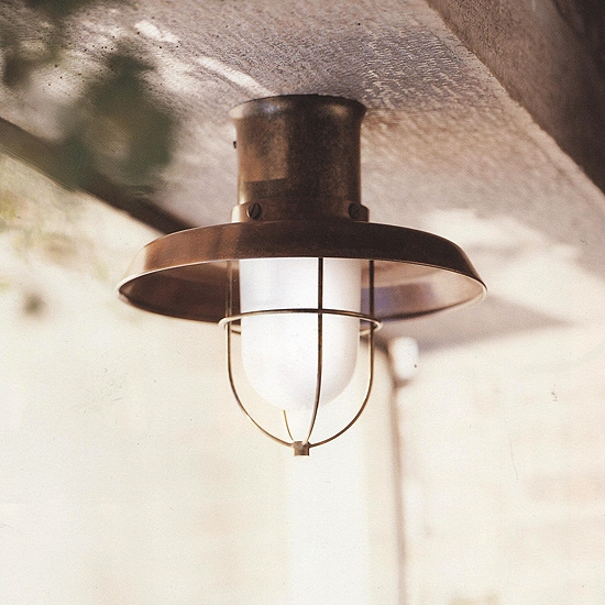 Maritime Outdoor Ceiling Light Il Patio Terra Lumi