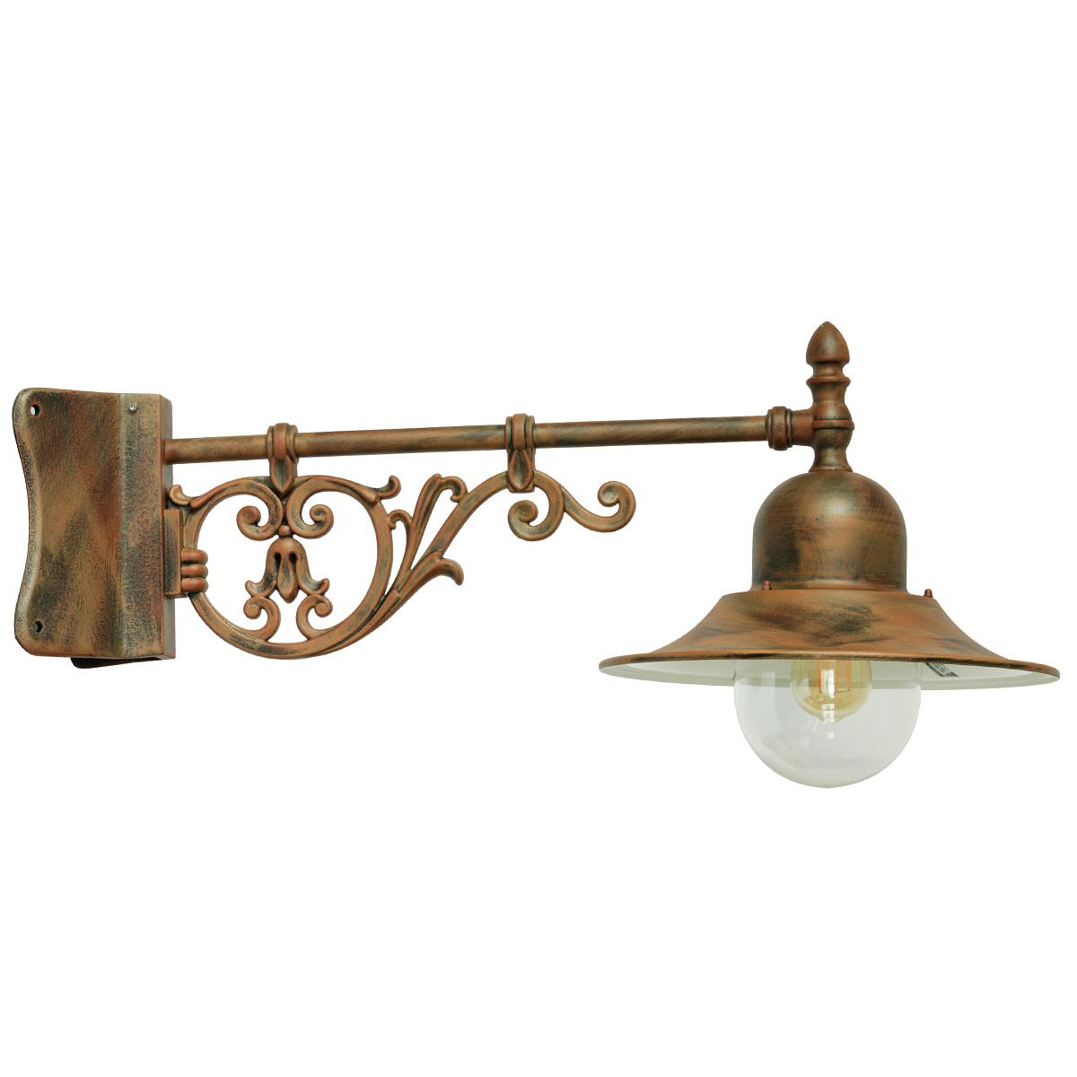 Italienische au en wandlampe mit historischem wandarm terra lumi - Aussen wandlampe ...