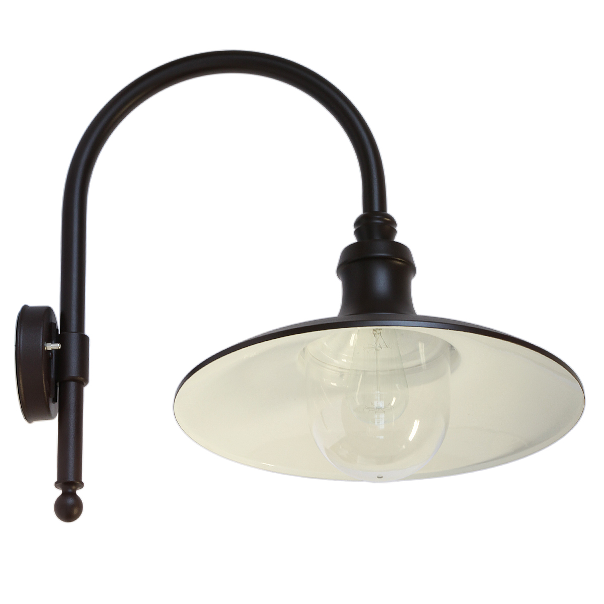 Italian Factory-Style Wall Lamp for Outdoors with Makrolon Glass - Terra Lumi