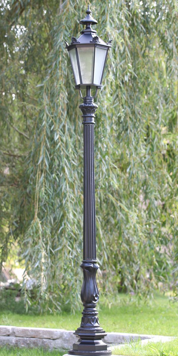 mastleuchten garten, klassische mastleuchte mit schinkel-laterne s0p1.71 - terra lumi, Design ideen