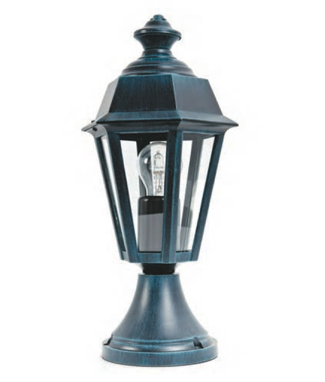 Parish Mini Pedestal Lantern: Small Pedestal Light Monaco