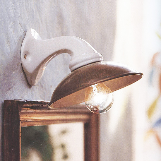 Kleine landhaus wandleuchte aus keramik i girasoli - Dachziegel wandleuchte ...