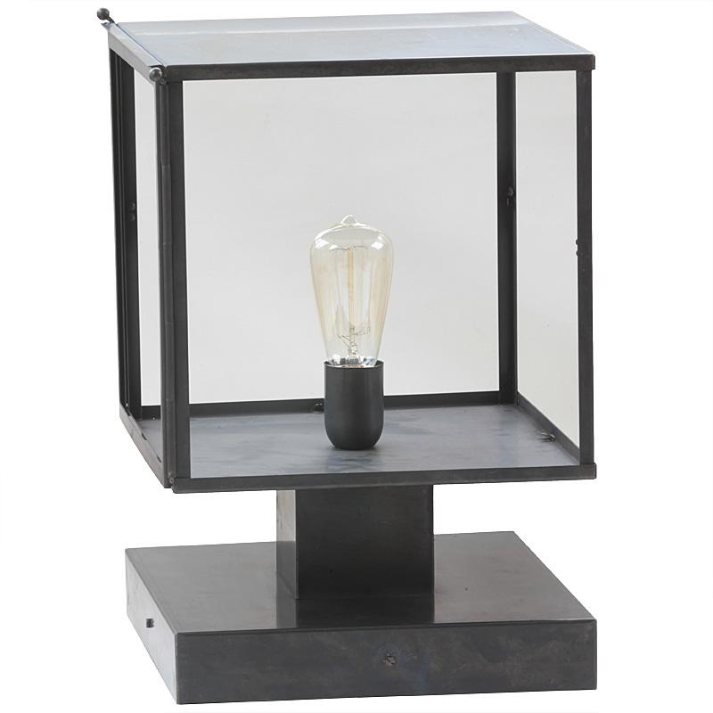 Art D Co Outdoor Pedestal Light Vitrine Terra Lumi