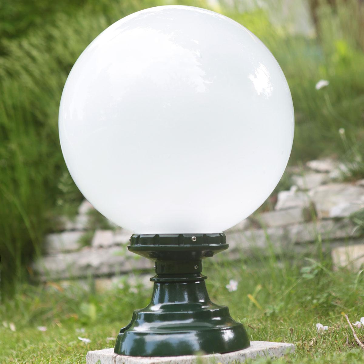 ALU Decken Leuchte Terrasse Außen Beleuchtung rund Feuchtraum Lampe Glas opal