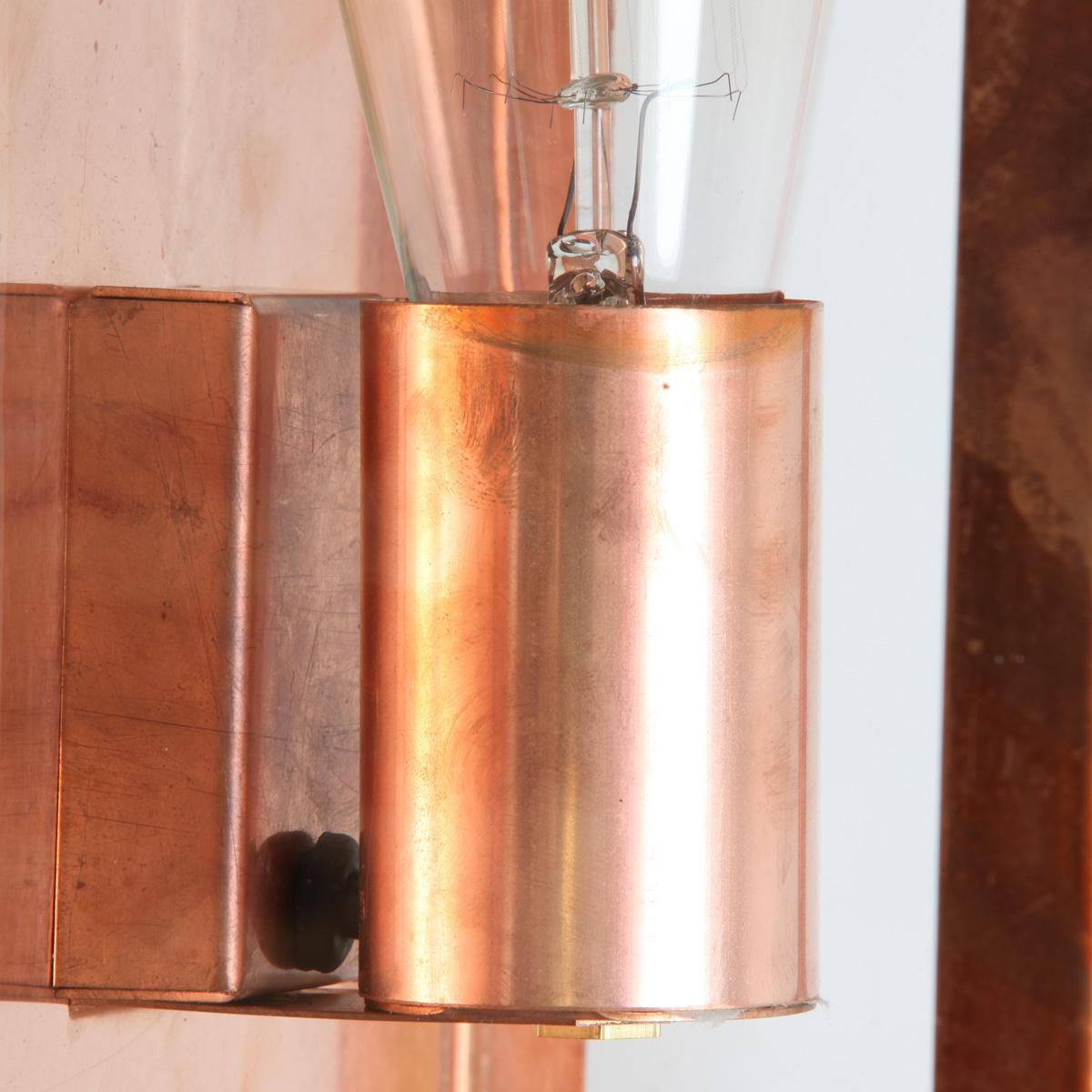 Flache Außen-Wandleuchte aus Kupfer Fürth - Terra Lumi