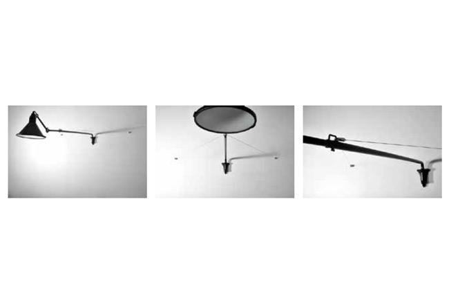 Design außenbeleuchtung mit ausziehbarem ausleger n° 213 xl terra lumi