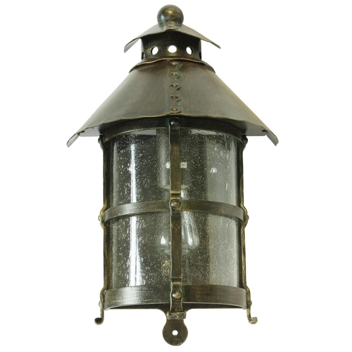 medieval wrought iron half lantern wl 3459 terra lumi. Black Bedroom Furniture Sets. Home Design Ideas