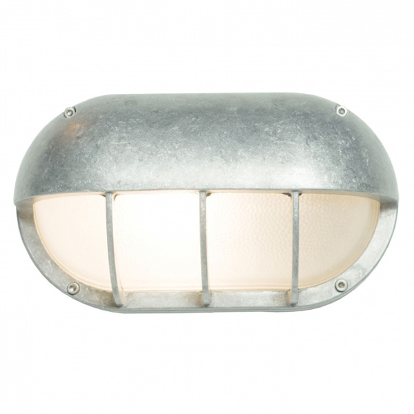 Oval Deck Light In Aluminium With Eyelid Shield 8125