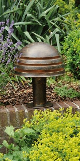 german handcrafted garden pedestal light al. Black Bedroom Furniture Sets. Home Design Ideas