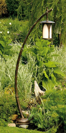 japanese wrought iron garden light al 6643 terra lumi. Black Bedroom Furniture Sets. Home Design Ideas