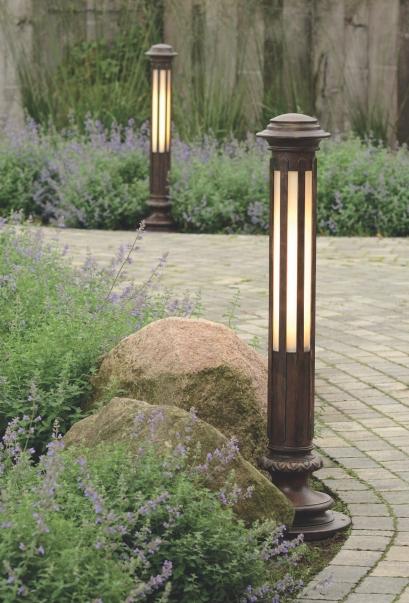 hand forged bollard light al 6600 terra lumi. Black Bedroom Furniture Sets. Home Design Ideas