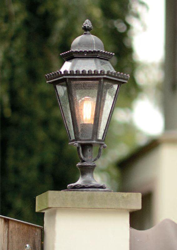 traditional wrought iron pedestal light al 6709 terra lumi. Black Bedroom Furniture Sets. Home Design Ideas