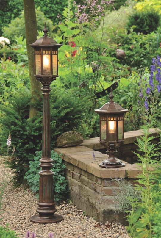 german wrought iron pedestal light al 6739 terra lumi. Black Bedroom Furniture Sets. Home Design Ideas