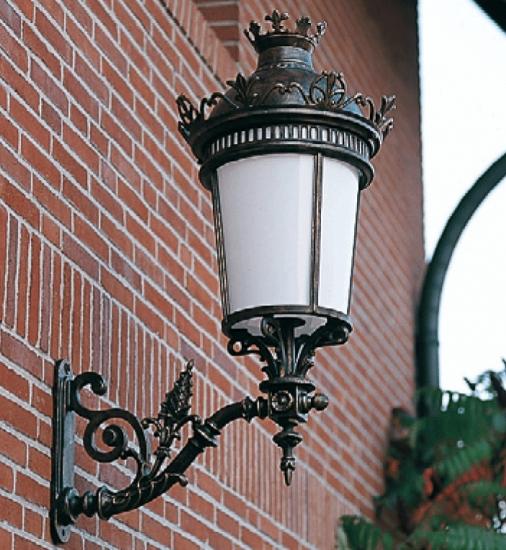 empire style wrought iron wall lantern wl 3410 terra lumi. Black Bedroom Furniture Sets. Home Design Ideas