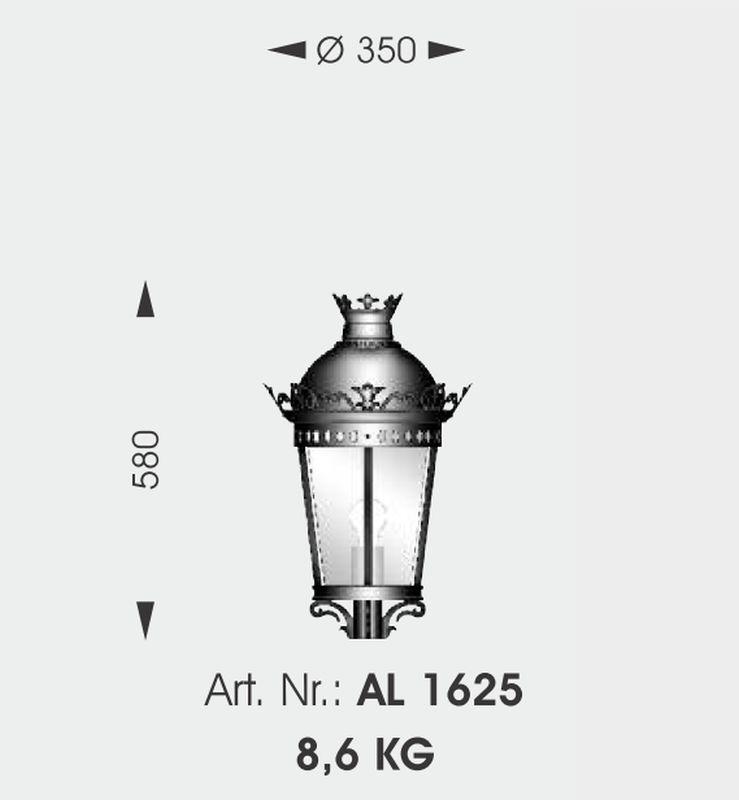 empire style wrought iron wall lantern wl 3558 terra lumi. Black Bedroom Furniture Sets. Home Design Ideas