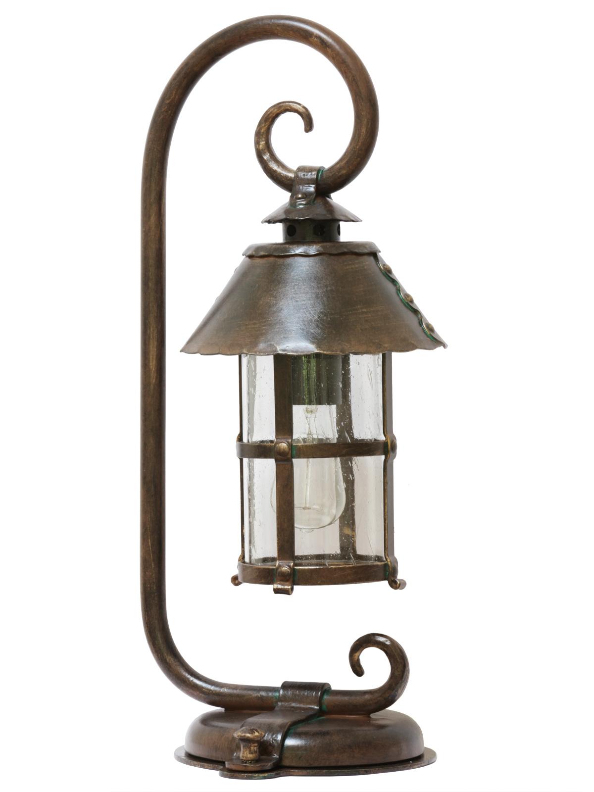 Wrought Iron Pedestal Light Al 6535 Terra Lumi