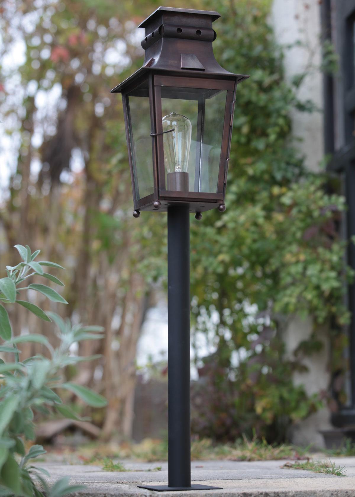 French Pedestal Outdoor Light Megève