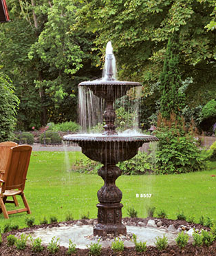 gro er springbrunnen aus aluminiumguss und stahl b 8557. Black Bedroom Furniture Sets. Home Design Ideas