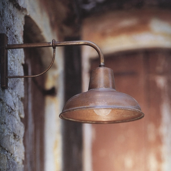 Copper Garden Wall Lights : Traditional Italian Wall Light Contrada 243.05.OR - Terra Lumi