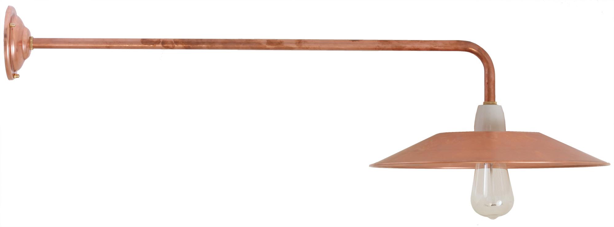 kupfer wandlampe mit flachem reflektor bonn ro 130 terra lumi. Black Bedroom Furniture Sets. Home Design Ideas