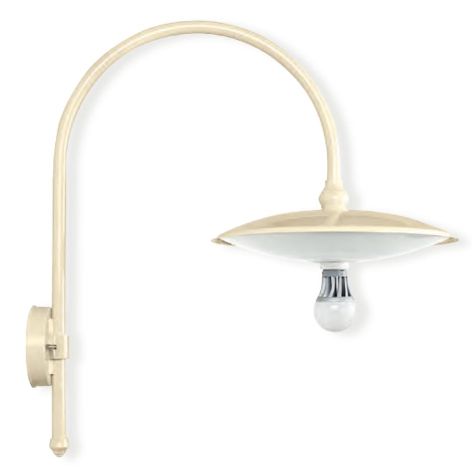 Wandlampe f r au en mit schlichtem bogenarm terra lumi - Aussen wandlampe ...