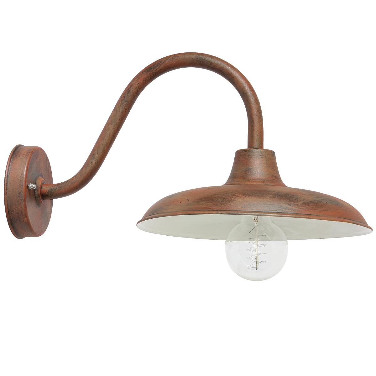 Schlichte wandlampe f r au en mit bogenarm terra lumi - Aussen wandlampe ...