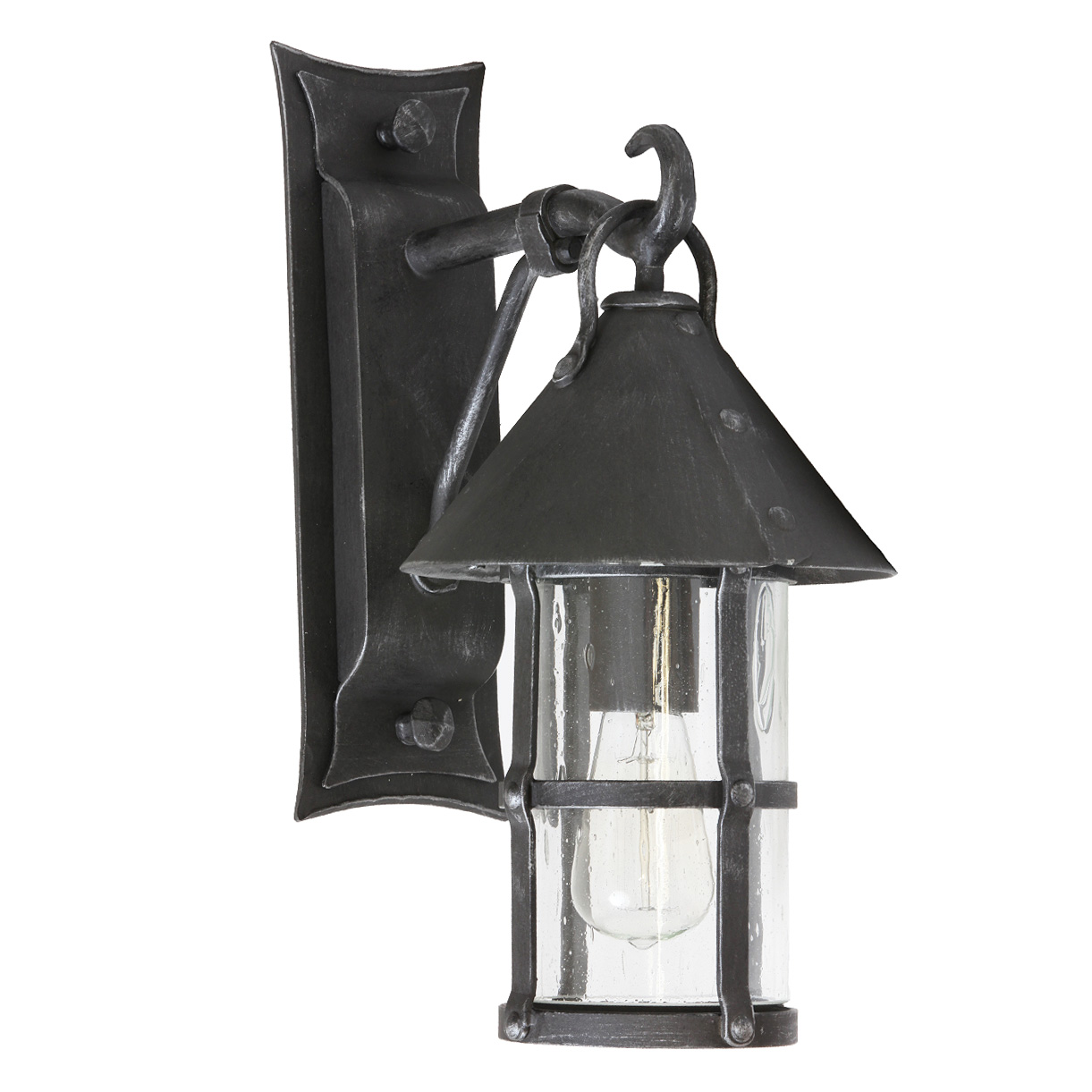 Medieval Wrought Iron Outdoor Sconce Wl 3497 3495 Terra Lumi