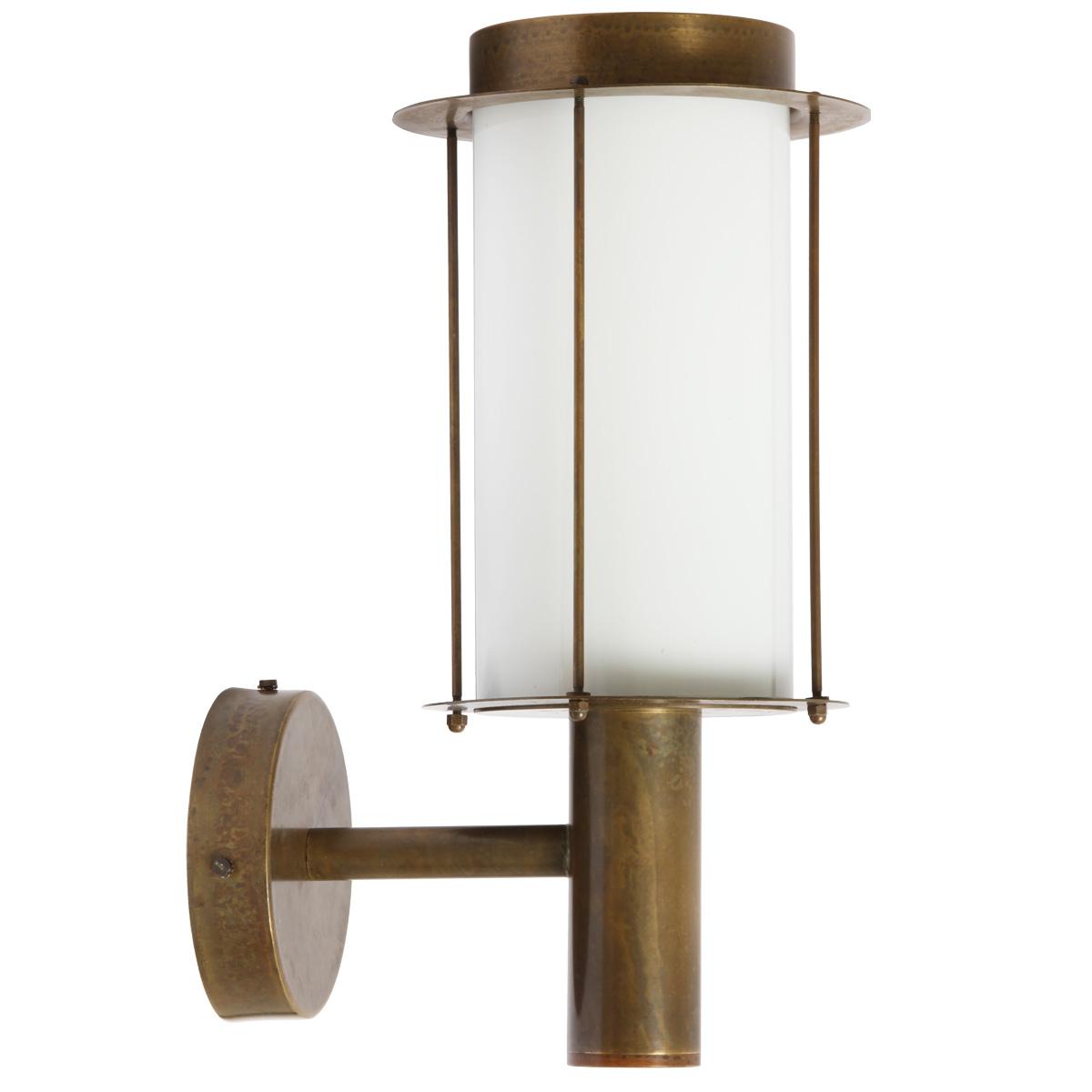 Image 1: Anbauleuchte Loggia Aus Messing 264.01.OO, Modell 1, Opalglas