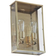 Kubische Messing-Wandleuchte Vitrine 2LL im Art d�co-Stil von  Authent, Bild 6: Messing-Wandleuchte Vitrine 2LL im Art d�co-Stil in Messing poliert
